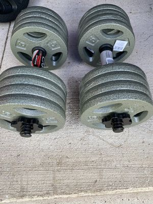 Pair 40 lbs adjustable dumbbell set for Sale in Alamo, TX