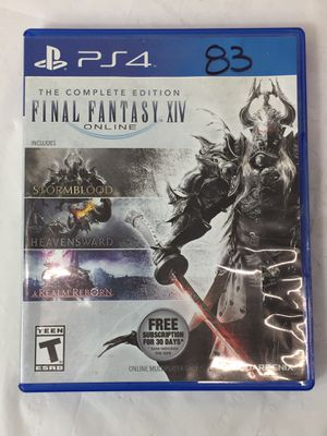 PS4 The Complete Edition Final Fantasy XIV Online (MXP013069) for Sale in Lakeland, FL