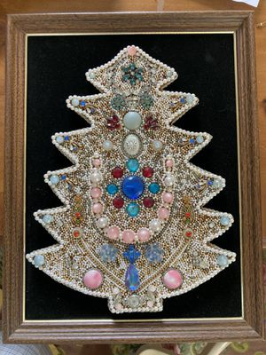Vintage Jewelry Christmas Tree Art for Sale in Sanford, FL