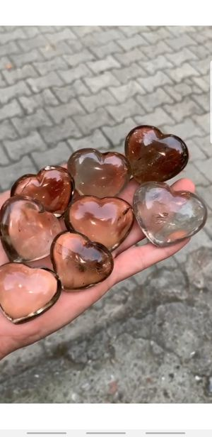 Large Smoky Quartz Crystal Hearts AAA Grade for Sale in Cutler Bay, FL