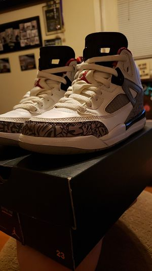 Nike Air Jordan spizike BP white cement 12c spiz'ike ps gs supreme off white bape for Sale in Pleasant View, TN