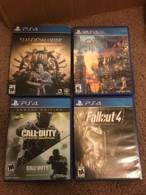 PlayStation 4 ( ps4 ) bundle 4 games for $30 for Sale in Austin, TX