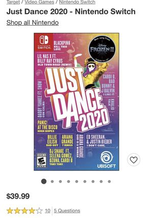 Just Dance 2020 Nintendo Switch for Sale in Phoenix, AZ
