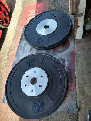 Olympic bumper plates 45 pounds for Sale in Pico Rivera, CA