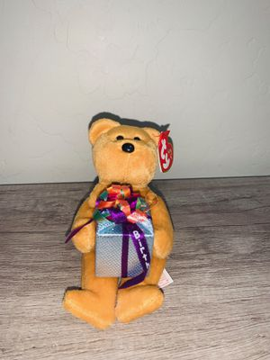 TY Beanie Baby Happy Birthday The Bear With Tag Retired DOB: 2004 for Sale in Glendale, AZ