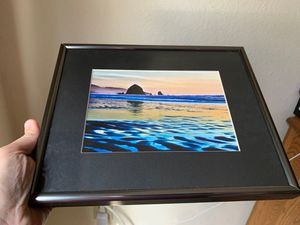Glass framed cannon beach artwork for Sale in Olympia, WA