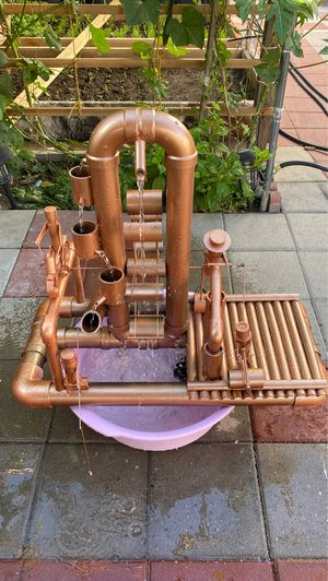 Hand make water fountain With pump if you want need order we're make complete 150$ for Sale in El Monte, CA