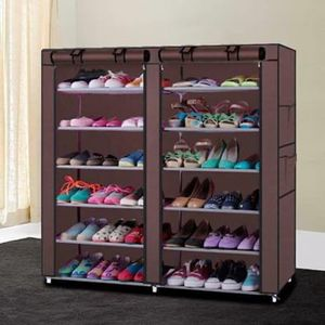 Durable 6 Tier Shoe Rack Shoe Shelf Storage Closet Organizer Cabinet with Cover for Sale in Livermore, CA