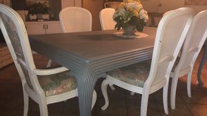 Dining table with 6 chairs & hutch for Sale in Woodlake, CA