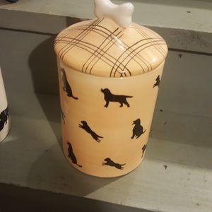 Dog Bone Storage Ceramic Dish W Cover for Sale in Peoria, IL