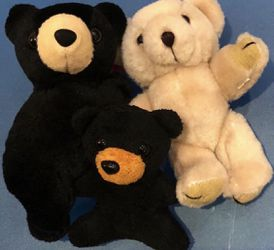 Cute Bear stuffed toys - 3 pcs. for Sale in Castro Valley,  CA
