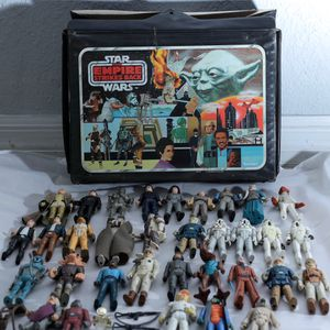 Vintage STAR WARS Action Figures by KENNER 1970s 1980s w/Carrying Case Collectibles for Sale in Long Beach, CA