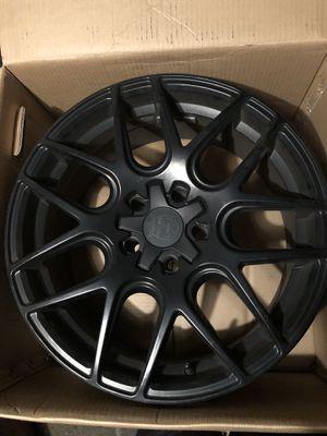 18' inch black custom rims for Sale in Kingston, MA