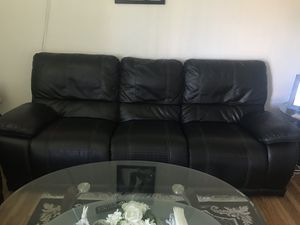 Black leather couches for Sale in Newark, CA