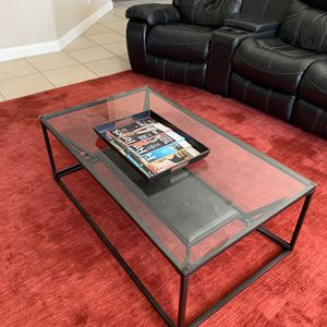 Glass Table Set (marble & metal) 3 tables total ( 2 X End Tables 1 X Coffee Table) for Sale in Costa Mesa, CA