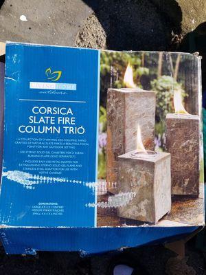 Corsica slate fire column trio for Sale in Ansonia, CT