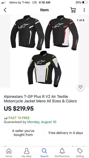 Motorcycle jacket- Alpinestars T-GP V2 air textile jacket for Sale in St. Louis, MO