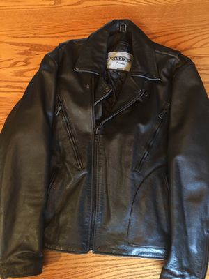 Black leather motorcycle jacket. for Sale in Butte, MT