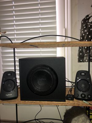 Logitech subwoofer/speaker. Comes with aux chord, and a adapter so you can do Bluetooth. Everything works in perfect condition. for Sale in Thousand Oaks, CA