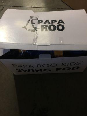 Papa Roo Kangaroo kids Child Hammock Pod Swing Chair Nook Animal Tent, 100% Cotton - blue indoor/outdoor for Sale in La Puente, CA