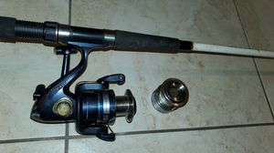South Bend R2R Seahawk fishing Reel Coastal Tuff 7' Rod Pole Extra Spool for Sale in Fort Lauderdale, FL