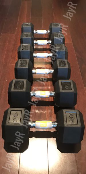40lb,35lb,30lb Dumbbell Pair - Brand New 210lb Weight Set for Sale in Homeland, CA