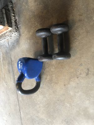 Weights, 30$OBO I NEED THESE GONE SEND IFFERS for Sale in El Cerrito, CA