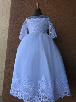 NEW! Size 8 White Dress with tags. Baptism/First Communion/Wedding for Sale in Menifee, CA