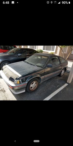 PARTING OUT 85 HONDA CRX good motor trans good insides seats not good was one owner not driven hard for Sale in Gilbert, AZ
