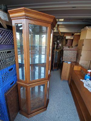 Beautiful corner cabinet hutch display case for Sale in Chino Hills, CA