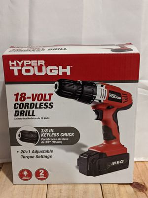 Hyper tough 18-volt cordless drill 3/8-in keyless chuck for Sale in PA, US