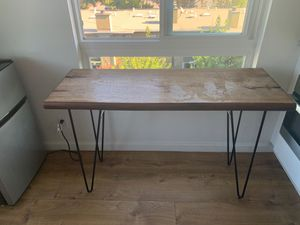Natural wood table for Sale in Burlingame, CA