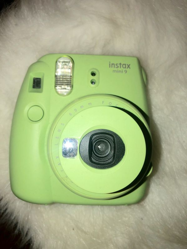 Fujifilm camera Mini 9. In color neon green instant film.