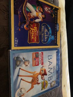 New Bambi and Aladdin anniversary edition for Sale in Las Vegas, NV