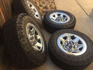 Gmc wheels stocks duratrac tires Lt for Sale in Modesto, CA