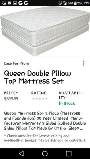 Queen size pillow top mattress and box spring for Sale in Farmville, VA