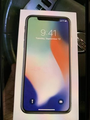 iPhone X 256 gb white unlocked for Sale in West Springfield, VA