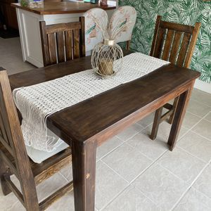 Wood Table With 4 Chairs for Sale in Corona, CA