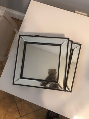 3 square mirror wall decors for Sale in Newark, NJ