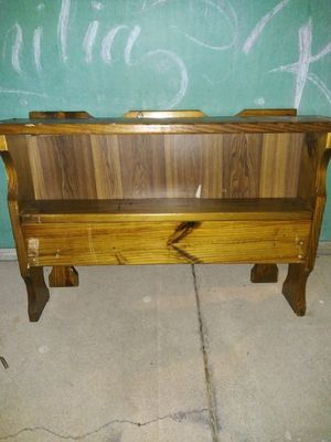 Headboard and frame all wood for Sale in Tucson, AZ