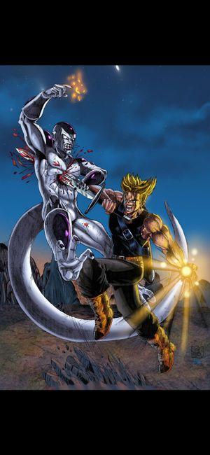 Dragonball Z Trunks vs Frieza 11x17 Print for Sale in Maple Shade Township, NJ