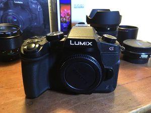 G85 Panasonic LUMIX 4K Dual I.S. + Metabones Adapter Canon + Rokinon 8mm for Sale in Scottsdale, AZ