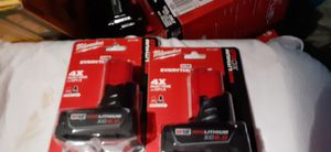 Milwaukee m12 xc 6.0 batteries for Sale in Wichita, KS