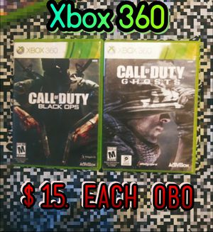 Xbox 360 call of duty black ops and ghost for Sale in Antioch, CA