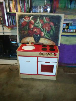 Play house kitchen oven sink counter with accessories for Sale in Glendale, CA