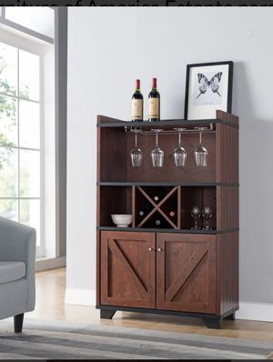 Wood Wine Rack in Vintage Walnut Farmhouse for Sale in Chino, CA