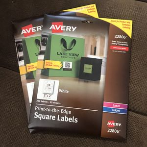 Avery Print To The Edge Square Labels for Sale in Irvine, CA