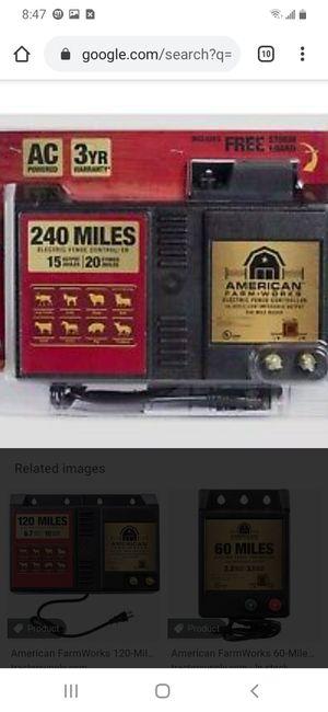 American farmworks 240mile electric fence for Sale in Atlanta, GA