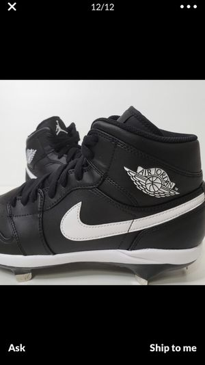 Nike Air Jordan Retro Baseball Cleats Black/White Men's size 13 Woman's size 14.5 for Sale in Westminster, CA
