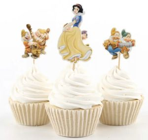 12 pieces Snow White Seven Dwarfs Cupcake Toppers Pick Cute Princess Girl Boy Kids Birthday Party Supplies Cake Decoration for Sale in Baldwin Park, CA